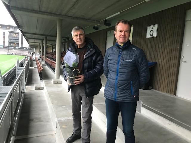 MIFs leder Arild Nygård og Per Øyvind Mørk fra Sparebanken Øst